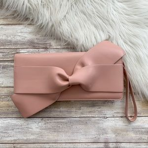 a new day Pink Bow Front Wristlet